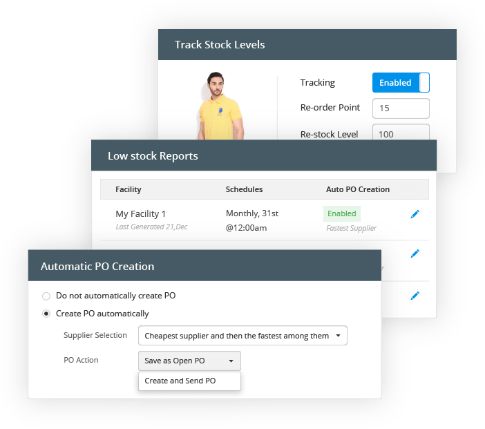 automatically raise purchase orders
