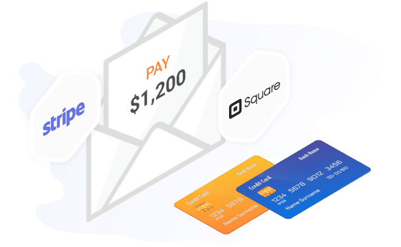 Stripe and Square integrated b2b software