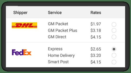compare DHL shipper rates