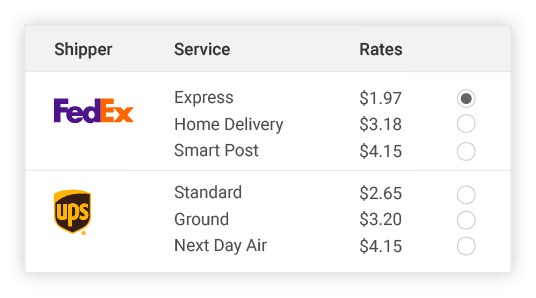 compare FedEx shipper rates