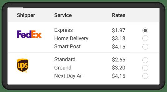 compare FedEx shipper rates