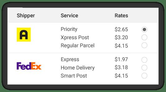 compare asendia shipper rates