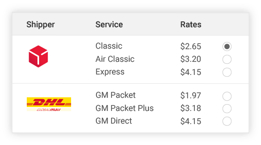 compare dpd shipper rates