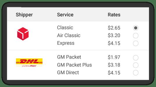 compare dpd shipper rates