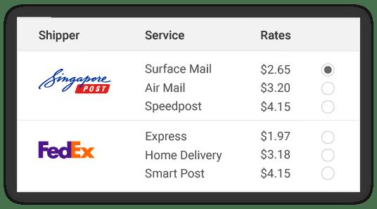 compare Singapore Post shipper rates