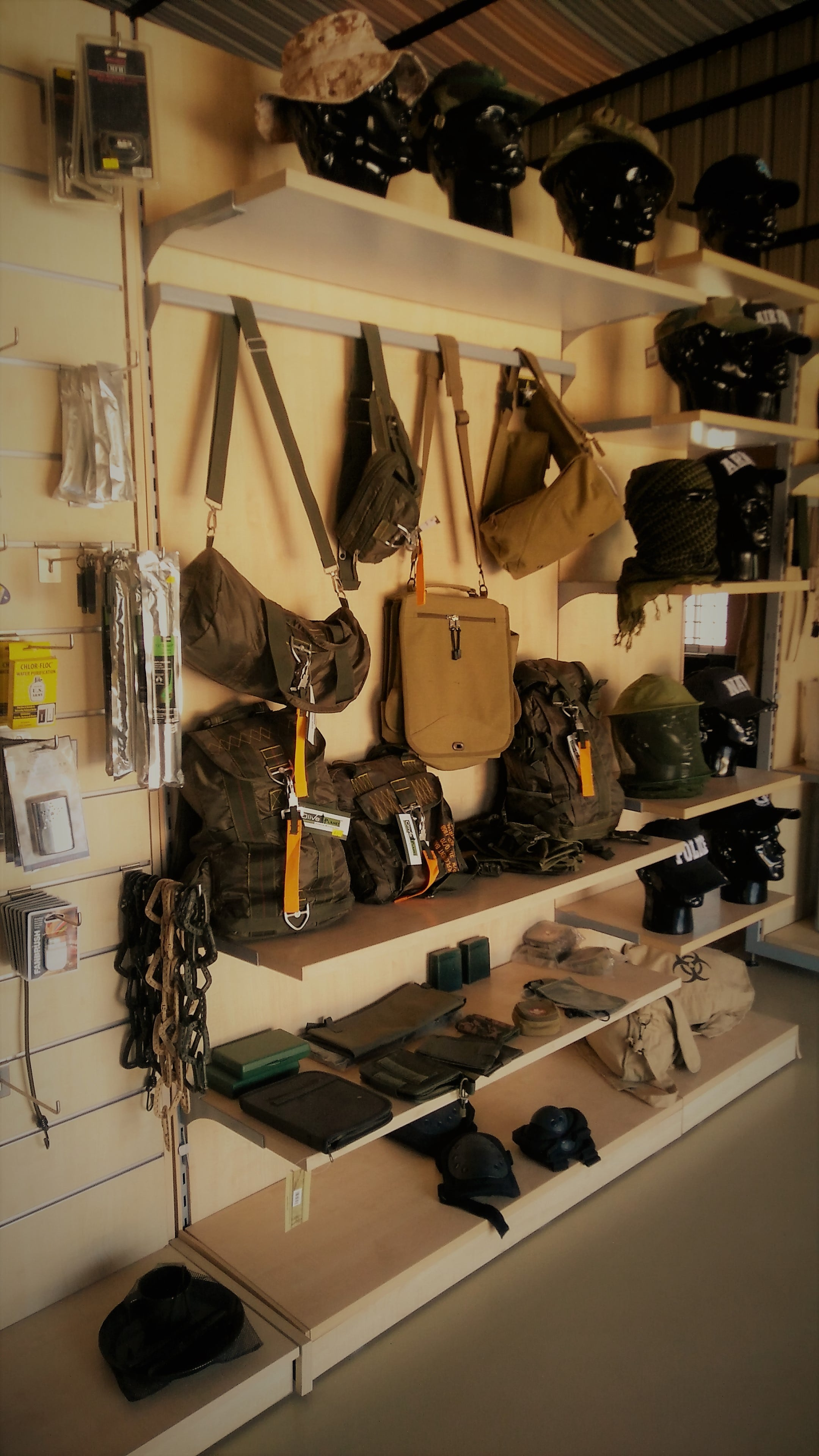 Olive Planet retail store - Military gear