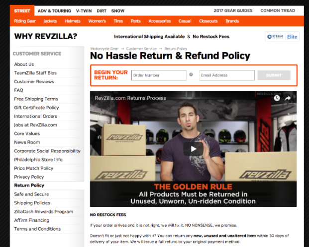 Ecommerce Returns Policy Video