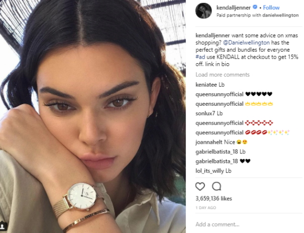 influencer marketing for ecommerce -jenner