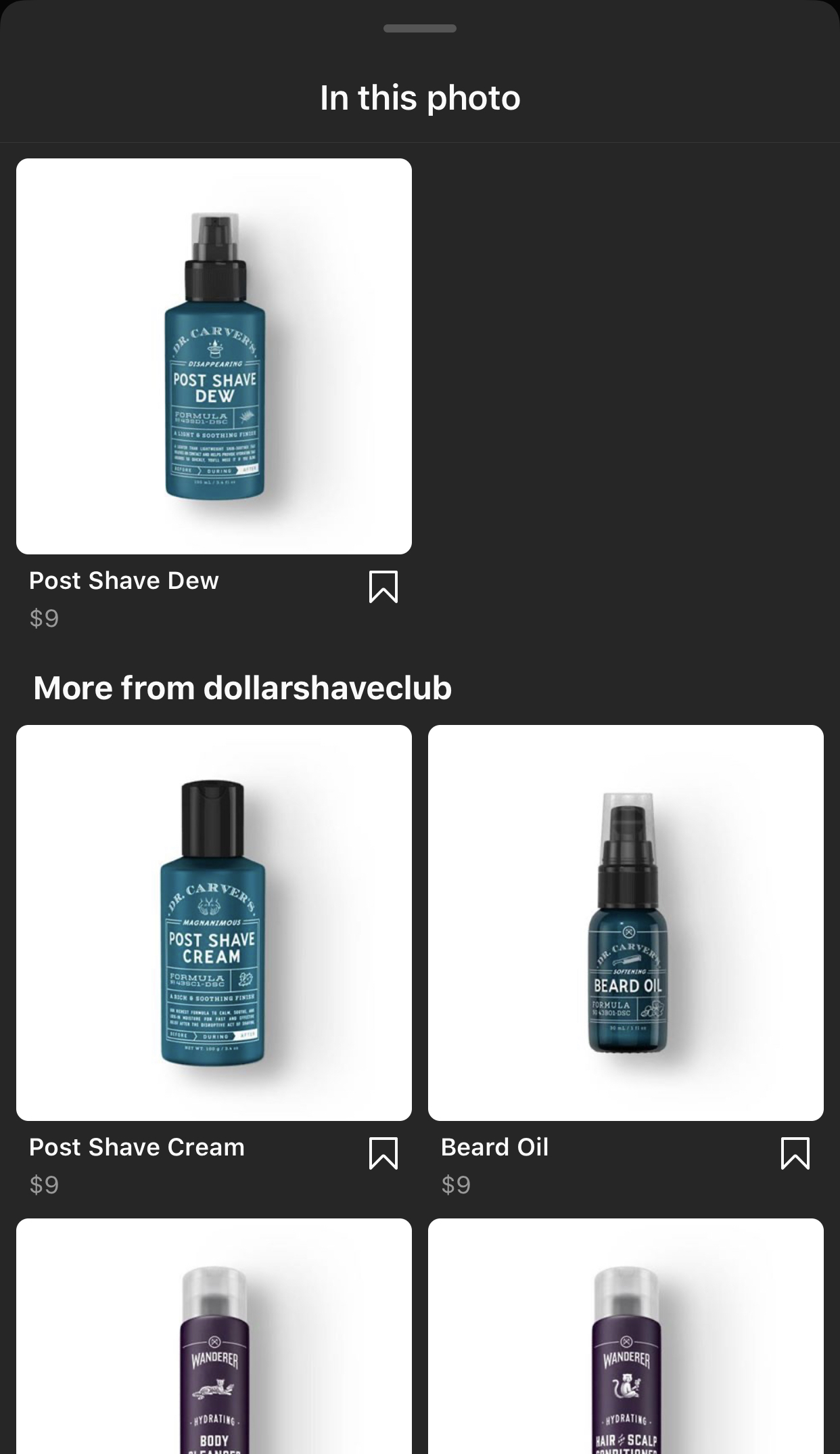 Instagram shop dollarshaveclub
